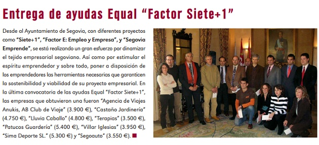 "Entrega de ayudas Equal ""Factor Siete+1"""