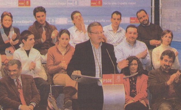 El PSOE escenifica su apoyo a la gestión de Arahuetes al frente del Ayuntamiento