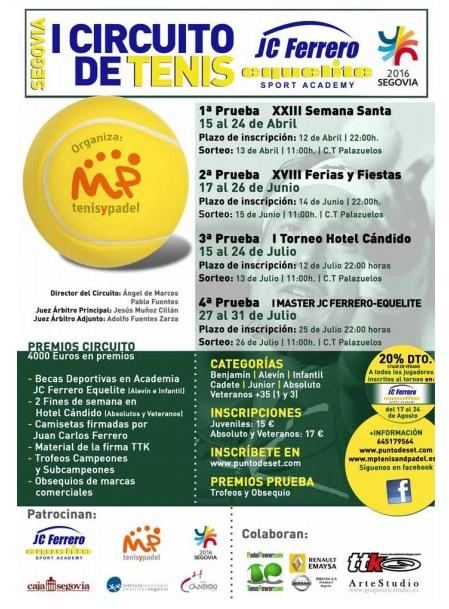 Cartel anunciador del Circuito Juan Carlos Ferrero