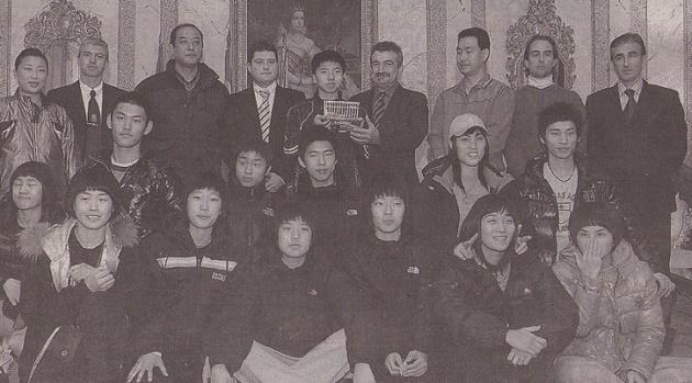 La selección coreana, en el Ayuntamiento