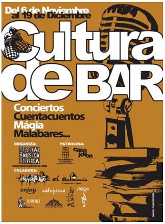 Cartel anunciador de Cultura de Bar