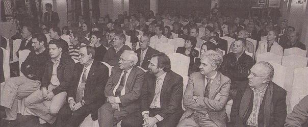 Los salones del Hotel Cándido se llenaron para la presentación (Javier Arranz, 2º por la izqda. en la primera fila)