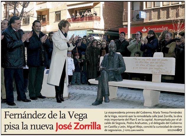 Fernández de la Vega cree que la nueva José Zorrilla traerá vida y progreso