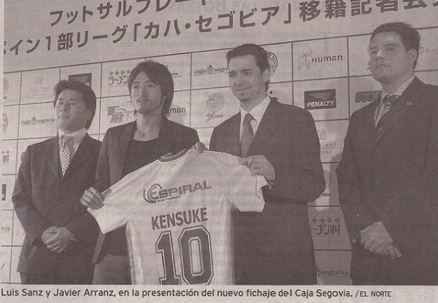 El Caja Segovia FS cierra el fichaje del ala pívot japonés Kensuke Takahashi