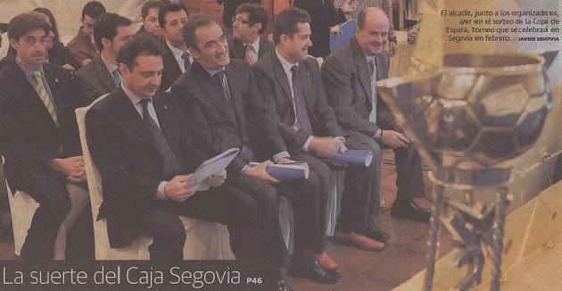 El Caja Segovia evita a los 'cocos' en el sorteo de la copa de fútbol sala 2011