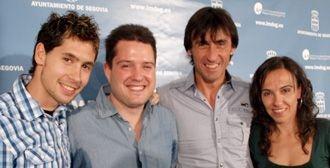 Javier Guerra, Javier Arranz, José Luis de Santos y María Martín