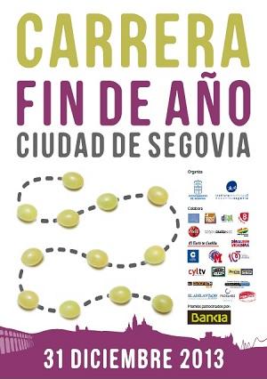 Cartel de la Carrera Fin de Año Ciudad de Segovia 2013