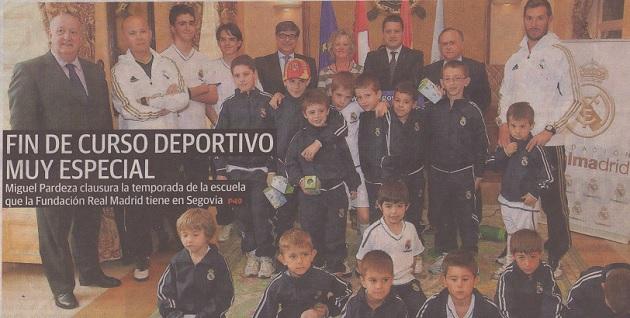 La escuela de la Fundación Real Madrid en Segovia pone fin al curso deportivo