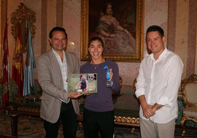 Recepción a la triatleta segoviana Helena Herrero