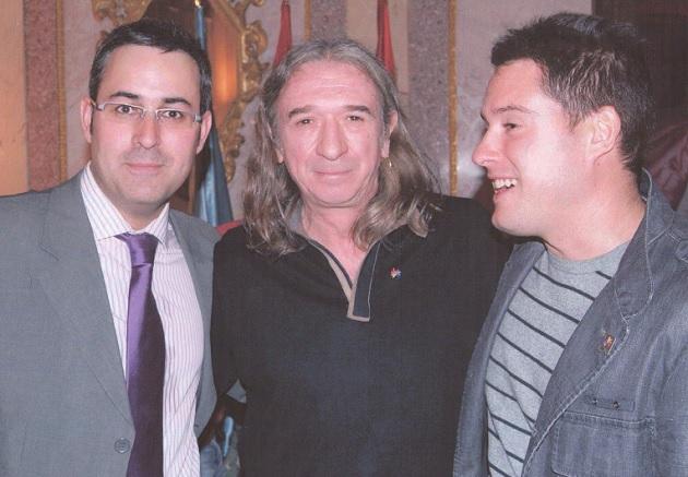 Rosendo Mercado junto al concejal Javier Arranz