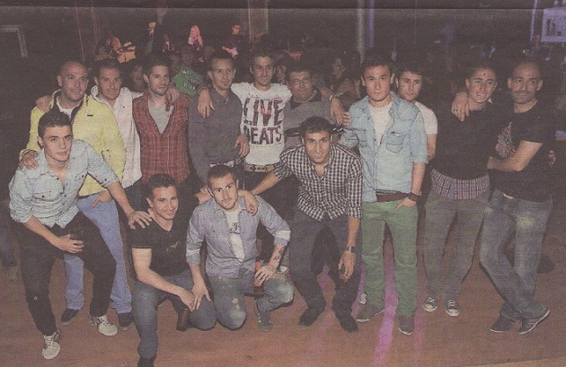 Gran parte de la primera plantilla de la Segoviana acudió al concierto